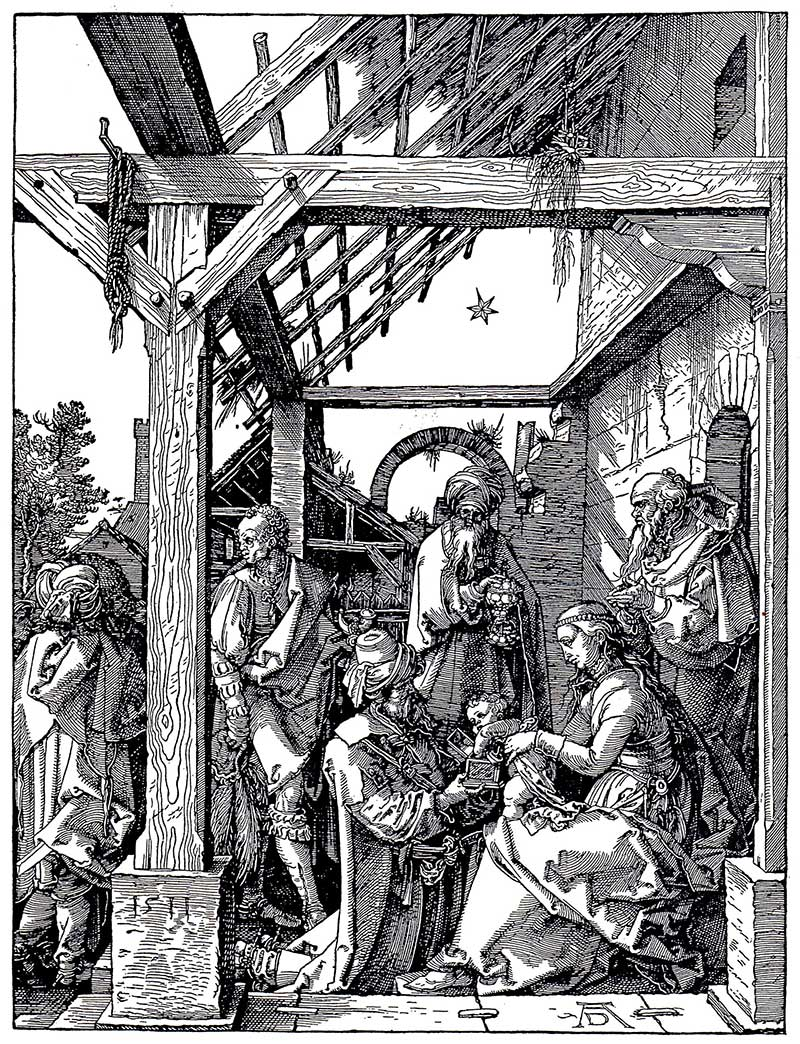 Albrecht Durer engraving of the Nativity